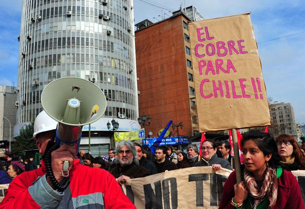 Protestas por Codelco