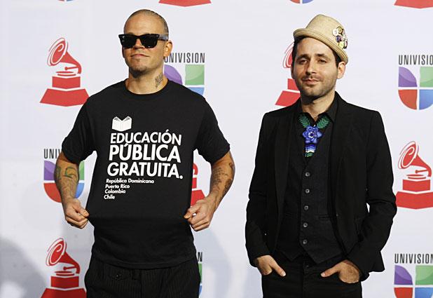 Calle 13 pide ´´educación pública gratuita´´ en los Grammy Latinos