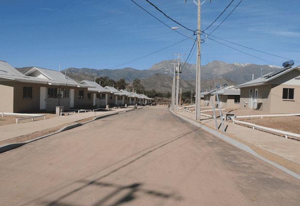 Primer barrio solar de Chile en Combarbalá, IV Región